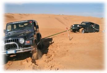 Manovre di disincaglio e recupero su sabbia